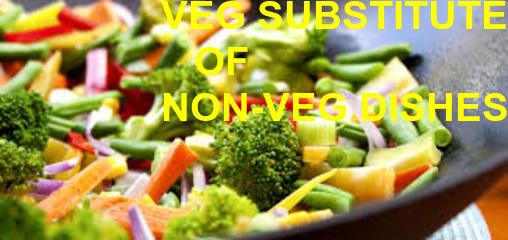 SUBSITUTE OF NON-VEG: CHICKEN, FISH, PORK, MUTTON,BEEF